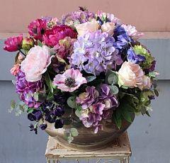 Композиции настольные из цветов