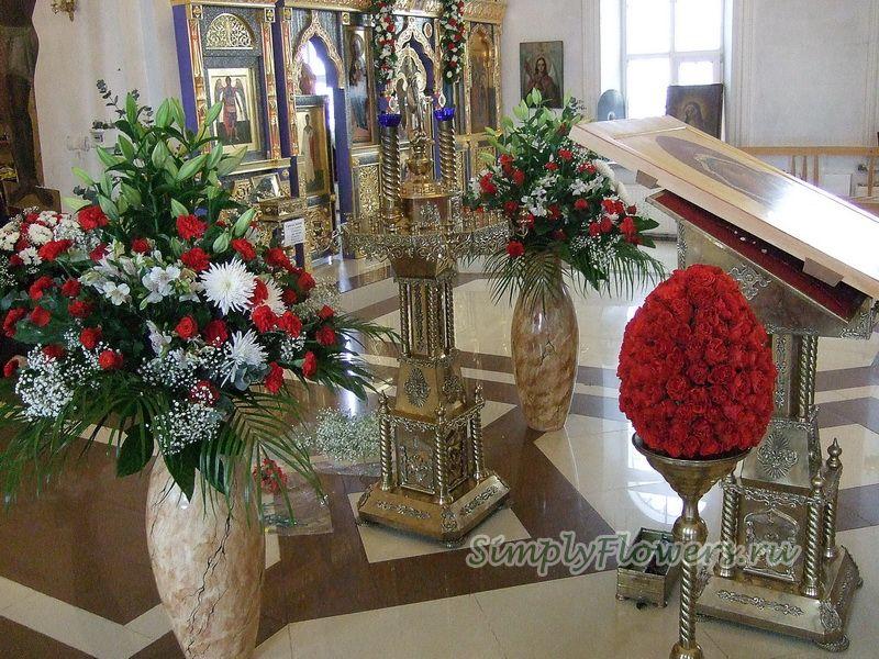 Морское, цветочный букет для церкви спб