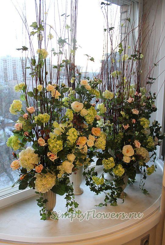 Подарочное оформление горшечных цветов, доставка свежих цветов по москве недорого